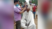 With tonsured head and public apology, 200 BJP workers return to TMC in Bengal
