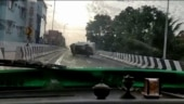 Caught on camera: Rash driving leads to accident as Mahindra Xylo flips atop bridge