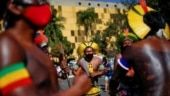 Firing arrows, indigenous people in Brazil protest bill curtailing land rights