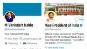 Twitter removes blue tick from Vice President Venkaiah Naidu's personal handle