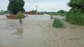 Bihar: Vehicular movement on Sattarghat bridge halted as Gandak river swellsdue to heavy rain in Nepal