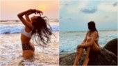 Janhvi Kapoor in Rs 4k bikini top and leopard print bottoms gets the sultry beach look right
