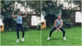Shilpa Shetty takes the open and close squat challenge, shares its benefits