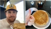 US man eats 9 waffles in 15 hours to punish himself for losing in his fantasy football league. Viral story