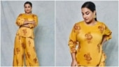 Vidya Balan in Rs 5k top and palazzo set rocks the comfy yet stylish look for Sherni promotions