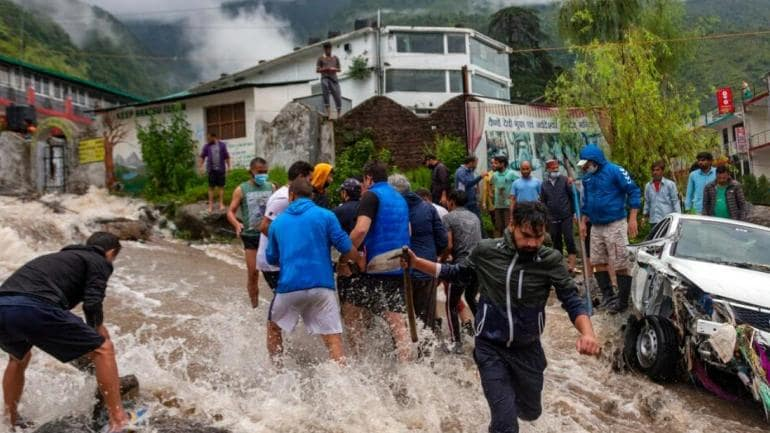 Three killed in Himachal Pradesh flash floods; houses, vehicles swept away - India News
