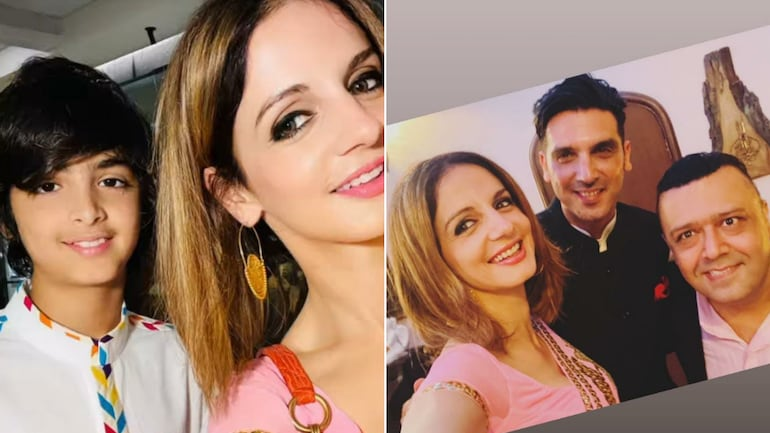 Sussanne Khan's Eid was all about spending time with son Hridaan and brother Zayed Khan.