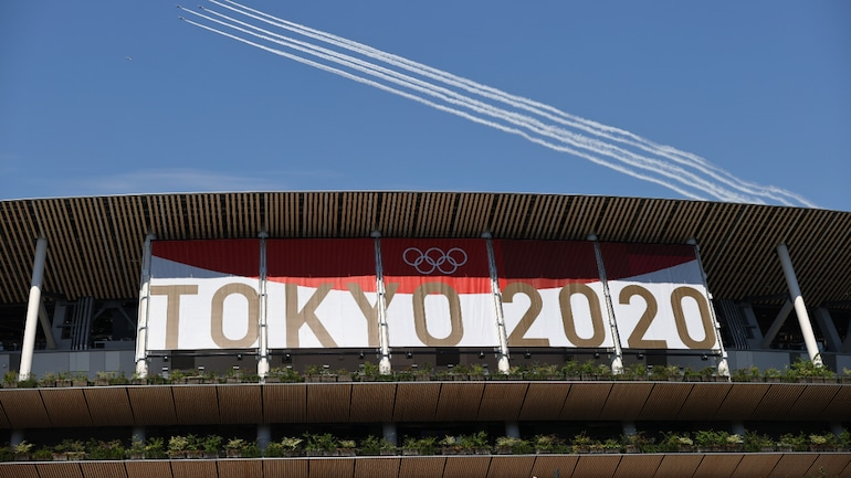 The Tokyo Olympics opening ceremony will be held at the National Stadium on July 23 (Reuters Photo)