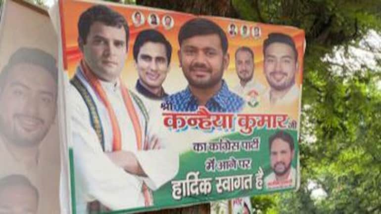 Kanhaiya Kumar to join Congress, posters put up outside party office in  Delhi - India News