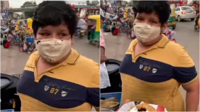 14-yr-old boy sells Dahi Kachori at roadside stall in Ahmedabad. Viral video leaves Internet teary-eyed