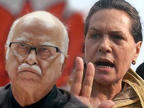 Sonia, Advani to hold rallies