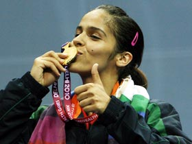 Saina won India's 38th gold