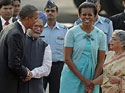 Barack Obama, wife arrive in Delhi