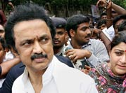 Stalin, son booked in land grab case