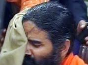 Black ink thrown at Baba Ramdev's face