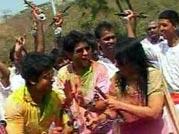 Telly stars celebrate Holi