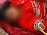 Abandoned baby battling for life in Kashmir