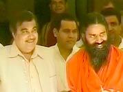 Baba Ramdev meets Nitin Gadkari to seek support against black money