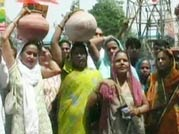 Delhiites protest over acute water crisis