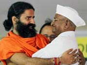 Baba Ramdev's takes dig at Team Anna over Modi remark