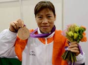 Boxer Mary Kom warmly welcomed in Delhi