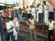 SP, TDP join Bharat Bandh, trains stopped