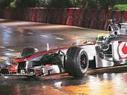 F1 driver Lewis Hamilton scorches Mumbai roads