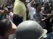 Telangana March: Students clash with cops
