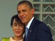 Obama meets Suu Kyi on historic Myanmar visit