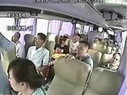 Deadly bus crash in China caught on camera