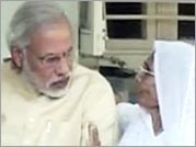 Narendra Modi seeks his mother's blessings on his 63rd birthday