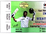 Treat for Sachin fans: Eden Test tickets to have five different photos of Master Blaster