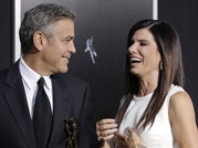 George Clooney and Sandra Bullock spotted at Gravity