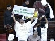 Pepper spraying mars tabling of Telangana Bill in Parliament