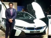Auto Expo 2014: Sachin Tendulkar at launch of BMW's i8 hybrid car