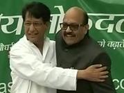 Ajit Singh inducts Amar Singh, Jaya Prada into RLD