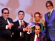 Out on stands: Big B and Aamir launch Dilip Kumar's autobiography