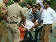 UPSC aspirants clash with police in Delhi, set vehicles on fire