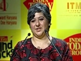 Kaveree Bamzai welcomes India Today Mind Rocks 2014 Delhi guests
