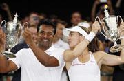 Triple Wimbledon glory for India