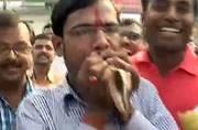 #BiharResults: Celebrations begin outside BJP office in Patna
