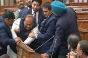BJP MLA keeping it classy, gets thrown out of Delhi Assembly