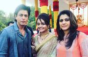 Dilwale Shah Rukh Khan and Kajol shoot with the cast of Saath Nibhana Saathiya