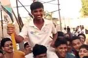 Pranav Dhanawade from Mumbai scores over 1000 runs in a match