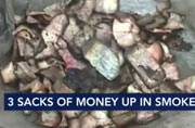 Millionaire beggar's cash in 3 gunny bags reduced to ashes in Kalyan
