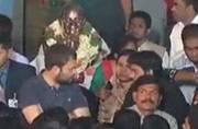 Rahul Gandhi meets protesting students at Hyderabad university