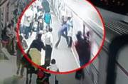 On camera: Man falls from moving train in Mumbai