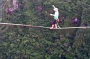 Watch: Spine chilling pictures of highliner walking over Brazil canyon