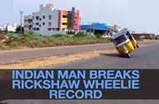 Chennai auto rickshaw driver registers a record for longest wheelie
