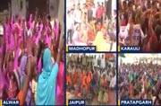 Women protest against liquor shops in Rajasthan